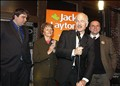Jack Layton NDP Jack Layton NDP Leader campains to become the new Prime Minister of Canada.